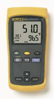 THERMOMETER SING INPUT YL 60HZ - Digital Thermometer, Model 51 Series II, Fluke - Model - Test Vwr