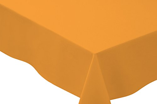 Basic Tablecloth (Bright Settings 70 Inch Square Tablecloth, Flame Retardant Basic Polyester, Goldenrod)