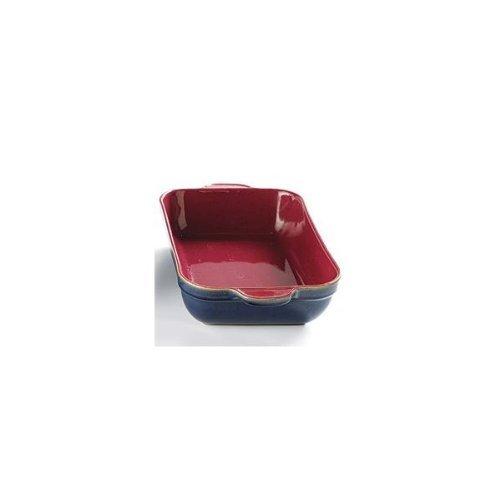Denby Harlequin Oblong Deep Baking Dish Red/ Blue