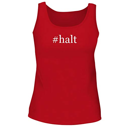 (#halt - Cute Women's Graphic Tank Top, Red, X-Large)