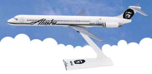 Flight Miniatures Alaska Airlines McDonnell Douglas MD-83 1:200 Scale Display Model (Alaska Airlines Model compare prices)