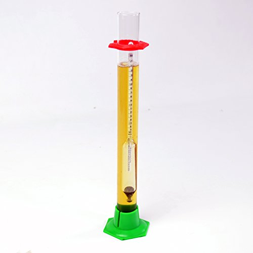 Triple Scale Hydrometer and 13' Glass Hydrometer Test Jar with Stand with Safety Bumpers Home Brewing Beer Brewing Wine Making