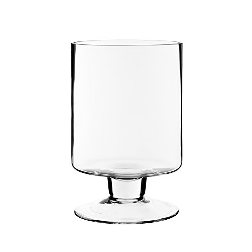 CYS EXCEL Glass Candle Holders, Hurricane Candle Holder, Trifle Dessert Tray, Stemmed Candle Holder (Series (1) 6