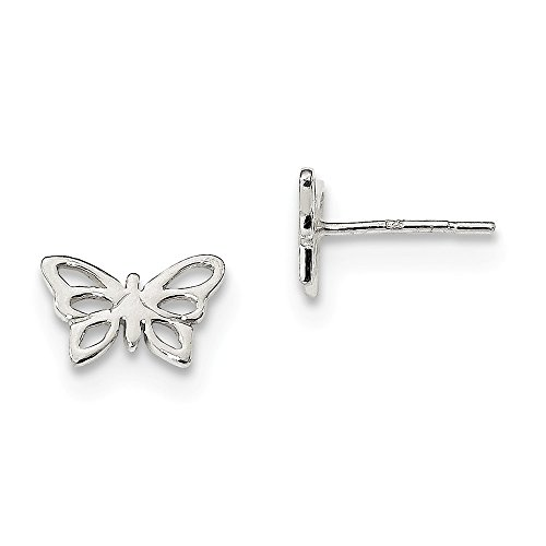 925 Sterling Silver Butterfly Post Stud Earrings Animal Fine Jewelry Gifts For Women For Her