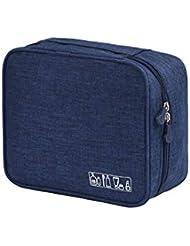 WeTest Perfect Travel Toiletry Bag - Hanging Travel Dopp Kit Waterproof Organizer Bag (Dark Blue)