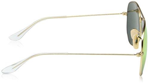 Ray-Ban - Lunettes de Soleil - RB3025 Aviator Metal Aviator Polarisée 58 mm ANTIQUE GOLD (ANTIQUE GOLD)/Green