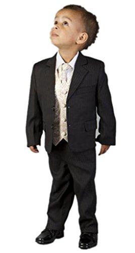 MLT Boy's 3-pieces Formal Vertical Stripe Slim Suit Set (2S) by MLT