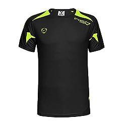 Ykaritianna Men S Casual Round Neck Fit Quick Dry Sport Short Sleeve Shirt Blouse Tops 2019 Black