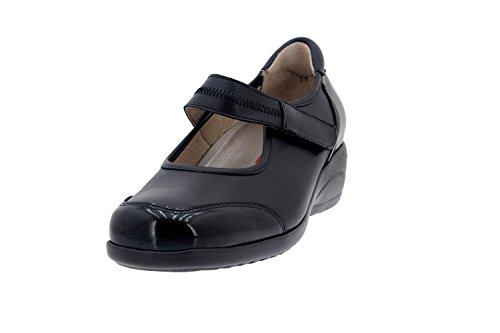 Calzado mujer confort de piel Piesanto 5990 zapato mercedes cómodo ancho Negro