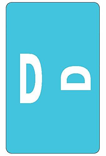 Acc D - Smead AlphaZ ACCS Color-Coded Alphabetic Label, D, Light Blue, 100 Labels per Pack (67174)