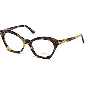 Tom Ford FT5456 Eyeglass Frames – Havana Frame, 52 mm Lens Diameter FT545652056