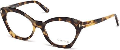 Tom Ford FT5456 Eyeglass Frames - Havana Frame, 52 mm Lens Diameter FT545652056