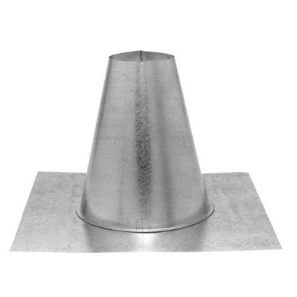 Gas Vent Tall Cone Flat - DuraVent 4GVFF Aluminum Tall Cone Flat Flashing with 4 Inch Inner Diameter, Aluminum