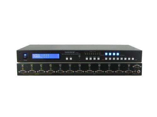 (Shinybow 8x4 (8:4) VGA RGBHV with Audio Matrix Switcher + RS232, IR Ext/Remote, Rack Mount, Programmable SB-4184LCM)