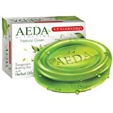 K.P. NAMBOODIRIS AEDA GLYCERINE NATURAL GREEN BATHING SOAP 75 GRAM ( 4 PACK 225 GRAM )