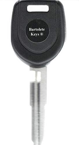 Bartolete Keys Transponder Key Blank Fits 2003 2004 2005 2006 Mitsubishi Lancer EVO (Evolution Model Only) (Mitsubishi Radio Code)