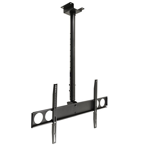 InstallerParts Flat TV Ceiling Mount 37″~70″ Tilt/Swivel PLB-CE348 Black — LCD LED Plasma TV Flat Panel Displays — Great for Panasonic, Samsung, LG, Vizio, Sony, Dynex, Insignia and More!