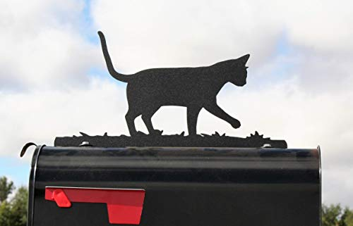 Cat Metal Mailbox Topper -