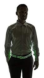 Light Up LED Belt In Green Color