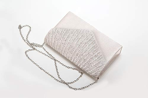 Envelope Nodykka Apricot Rhinestone Bridal Clutch Evening Handbag Women Frosted Party Purse HHRPwUxEnq