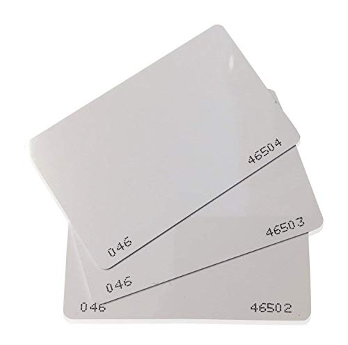 26 Bit Proximity CR80 Cards Weigand Prox Blank Printable Swipe Cards Compatable with ISOProx 1386 1326 H10301 Format Readers. Works with The vast Majority of Access Control Systems (100)