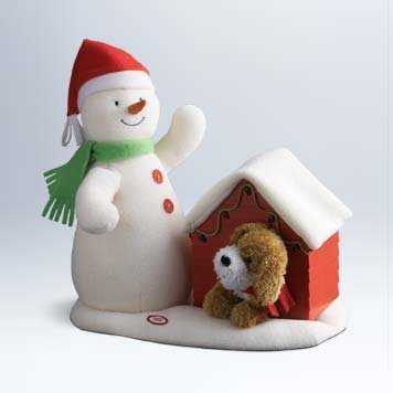 Hallmark 2011 Deck the Halls Duo Techno Plush Animated Snowman