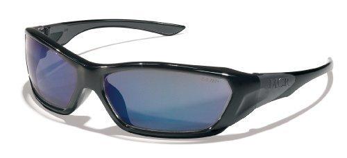 Crews FF128B Force Flex Military Ballistic Safety Glasses Black Frame Blue Diamond Lens, 1 Pair by MCR Safety