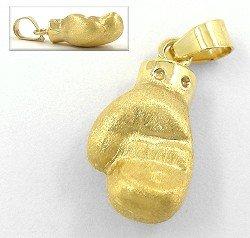 boxhandschuh anhänger gold