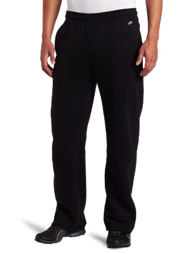 Mens Fleece Open Leg Pant - Soffe Men's Training Fleece Pocket Pant Black Large