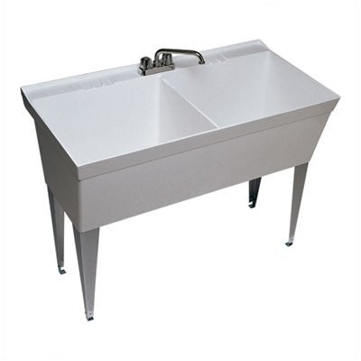 Swan MF-2F Floor-Mounted Double Laundry Tub, (Double Wash Sink)