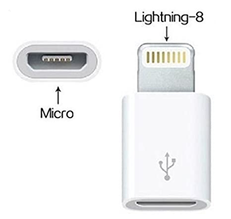 RB Micro USB to Lighting Adapter - Android to iPhone (5 / 5s / 6  sc 1 st  Amazon.com & Amazon.com: RB Micro USB to Lighting Adapter - Android to iPhone ... azcodes.com
