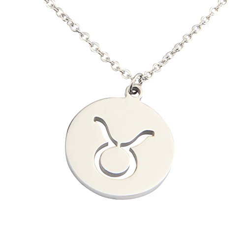 zodiac-signs-cut-out-stainless-steel-disc-necklace-taurus