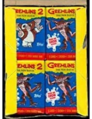 Retro Gremlins Trading Cards (4) Wax Pack Lot Topps Movie Stickers and Cards Non-sport