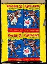 Retro Gremlins Trading Cards (4) Wax Pack Lot Topps Movie Stickers and Cards Non-sport ()