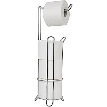 zenna home 7658ss toilet paper stand chrome home kitchen. Black Bedroom Furniture Sets. Home Design Ideas