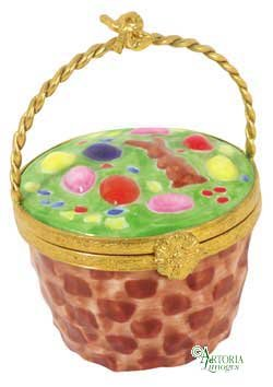 - Easter Basket - Hand Painted Limoges Box.