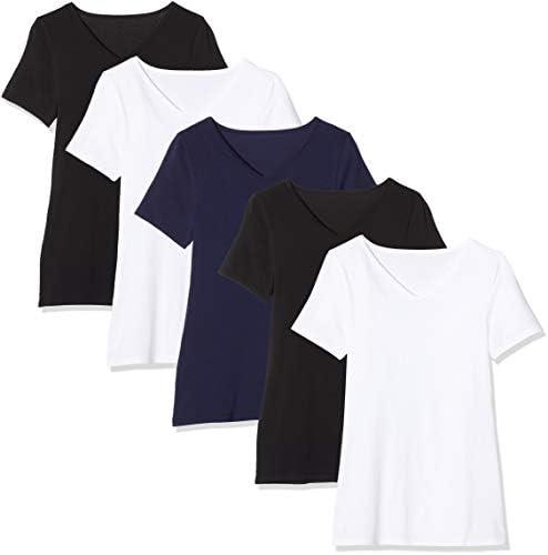 Maglev Essentials Damska Bdx010m5 t-Shirt (5er Pack): Odzież