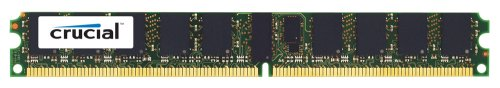 Crucial Technology CT25672AV667 2 GB 240-pin DIMM DDR2 PC2-5300 CL=5 Registered ECC DDR2-667 1.8V 256Meg x 72 Low Profile Memory (Server Low Memory Reg Profile)