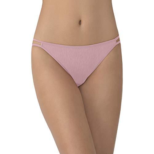 Vanity Fair Women's Illumination String Bikini Panty 18108, Bubbly, Medium/6