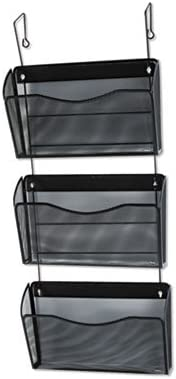 Black Three-Pack Wire Mesh Wall Files Letter Three Pockets