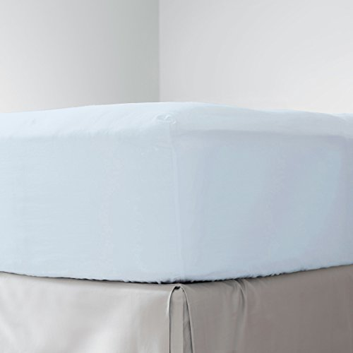 1500 Supreme Collection Fitted Sheet - Luxury Fitted Sheet Only With Deep Pocket Wrinkle Free Hypoallergenic Bedding - Additional or Replacement Item from Complete Sheet Set - Queen, Light Blue