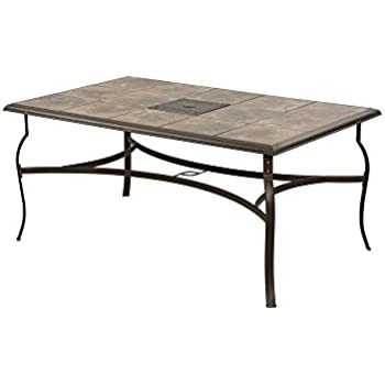 Amazoncom  Belleville Rectangular Patio Dining Table  Patio - Rectangular patio dining table