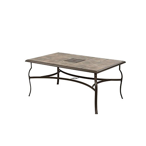 Patio Dining Table Rectangle Garden Outdoor Grilling Gazebo