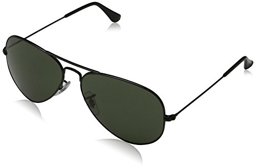 Ray-Ban Mens Original Aviator Sunglasses (RB3025) Black/Grey Metal - Non-Polarized - 58mm