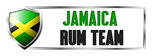 (Makoroni - JAMAICAN RUM TEAM Jamaica Jamaican Country Nation Sticker Decal Car Laptop Wall Sticker Decal 3'by9' (Small) or 4'by12' (Large))