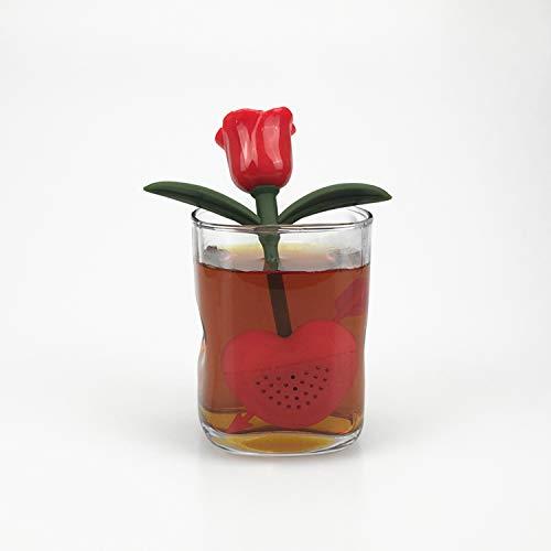 Premium Slow Brew Tea Infuser - Tea Silicone - Perfect Strainer for Loose Leaf Tea (ROSE)