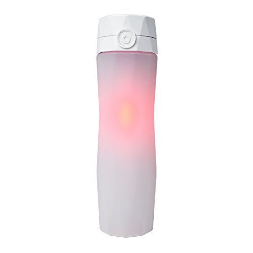 Hidrate Spark 2.0 Smart Water Bottle (White) - Tracks Water Intake & Glows to Remind You to Stay Hydrated