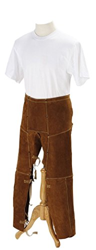 Welding Chaps, 40in, Split Cowhide Leather
