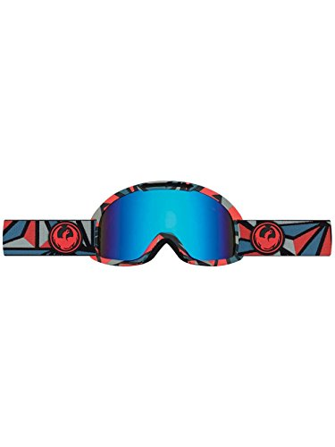 Dragon Alliance DX2 Ski Goggles, structure blue steel /+ bonus lens yellow/red Ionized by Dragon