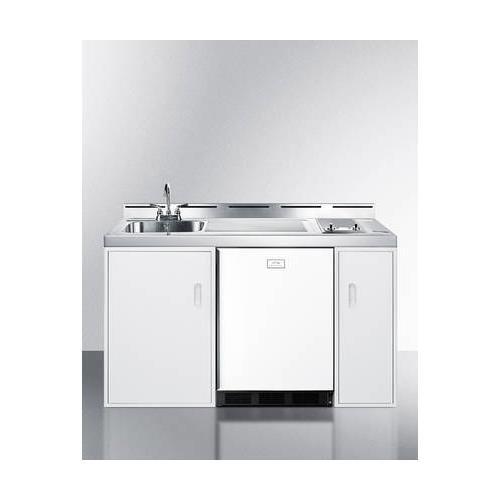 Summit C60ELGLASS Kitchen All in One Combination Unit, White ()